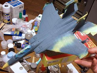 機体色塗装後