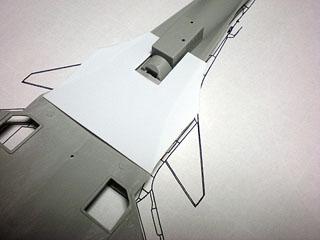 カナード翼根元機体取り付け後