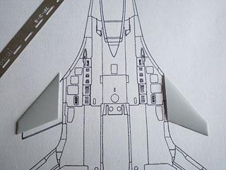 カナード翼先端図面比較
