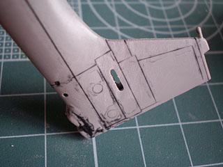 水平尾翼付け根削除