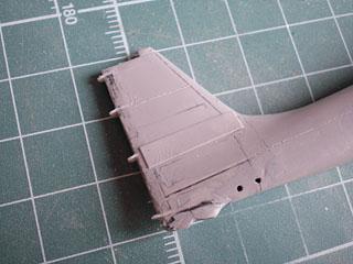 水平尾翼取り付け部分パネル